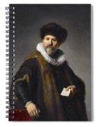 Portrait Of Nicolaes Ruts Spiral Notebook