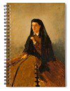 Portrait Of Pauline 1867 Spiral Notebook