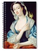 Portrait Of Peg Woffington Spiral Notebook