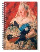 Portrait Of Queen Victoria Spiral Notebook