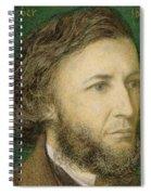 Portrait Of Robert Browning Spiral Notebook