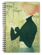 Portrait Of Sarah Bernhardt Spiral Notebook