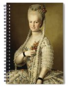 Portrait Of Sarah Cook Spiral Notebook