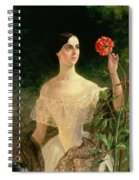 Portrait Of Sofia Andreyevna Shuvalova Spiral Notebook