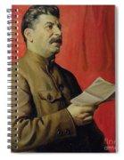 Portrait Of Stalin Spiral Notebook