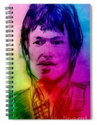 Rainbow Portrait Of Stevie Winwood Spiral Notebook