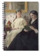 Portrait Of The Artist S Mother And Sister Spiral Notebook