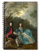 Portrait Of The Artist With His Wife And Daughter Spiral Notebook