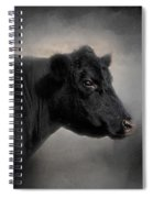 Portrait Of The Black Angus Spiral Notebook