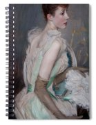 Portrait Of The Countess De Leusse Spiral Notebook
