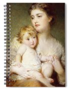 Portrait Of The Duchess Of St Albans With Her Son Spiral Notebook