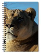 Portrait Of The Mighty Queen Spiral Notebook