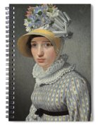 Portrait Of The Model Maddalena Or Anna Maria Uhden Spiral Notebook