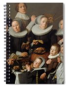 Portrait Of The Painter Andries Van Bochoven And His Family Spiral Notebook