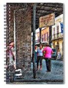 Portrait Of The Street Musician Sketch  Spiral Notebook