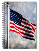 Portrait Of The United States Of America Flag Spiral Notebook