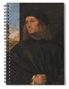 Portrait Of The Venetian Painter Giovanni Bellini Spiral Notebook