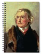 Portrait Of Thomas Jefferson Spiral Notebook