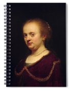 Portrait Of Young Lady Spiral Notebook