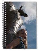 Portrait With A Giraffe Spiral Notebook