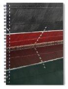 Portside Stern Water Line Queen Mary Ocean Liner Long Beach Ca Spiral Notebook