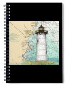 Portsmouth Harbor Lighthouse Nh Nautical Chart Map Art Spiral Notebook