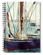 Portsmouth Harbour Boats Spiral Notebook