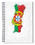 Portugal Painted Flag Map Spiral Notebook