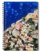 Positano Town In Italy Spiral Notebook