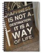 Positive Message In Cafe Tel Aviv Israel Spiral Notebook