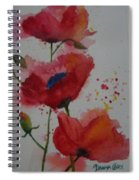 Positively Poppies Spiral Notebook