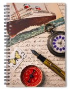Post Card And Letter Spiral Notebook