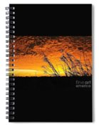 Post Hurricane Rita Clouds At Dockside In Beaumont Texas Usa Spiral Notebook
