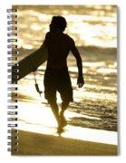 Post Surf Gold Spiral Notebook