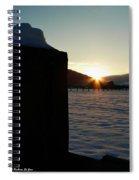 Post Top Rays Spiral Notebook