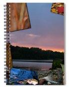 Postcard Autumn Memories Spiral Notebook