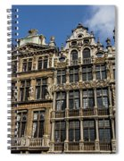 Postcard From Brussels - Grand Place Elegant Facades Spiral Notebook