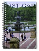 Postcard From Central Park Spiral Notebook