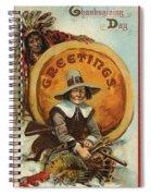 Postcard Of Pilgrim Plucking A Turkey Spiral Notebook
