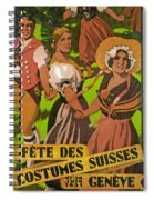 Poster Advertising F?te Des Costumes Spiral Notebook