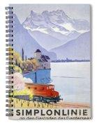 Poster Advertising Rail Travel Around Lake Geneva Spiral Notebook