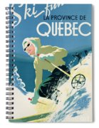 Poster Advertising Skiing Holidays In The Province Of Quebec Spiral Notebook
