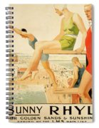 Poster Advertising Sunny Rhyl  Spiral Notebook
