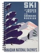 Poster Advertising The Canadian Ski Resort Jasper Spiral Notebook