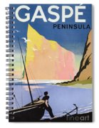 Poster Advertising The Gaspe Peninsula Quebec Canada Spiral Notebook