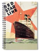 Poster Advertising The Red Star Line Spiral Notebook