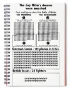 Poster Battle Of Britain Spiral Notebook