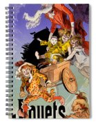 Poster For Aux Buttes Chaumont Toy Spiral Notebook