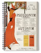 Poster For 'the Pseudonym And Autonym Libraries' Spiral Notebook