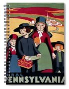 Poster Pennsylvania, C1938 Spiral Notebook